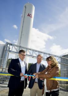 Nya naturgasanläggningen på Gyprocfabriken invigd