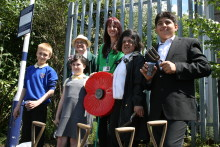 Castleton Station looks 'blooming' marvellous in memory of fallen soldiers