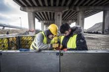 Talentenwerf | Antwerpse leerlingen oefenen bouwtechnieken in op de Oosterweelwerf