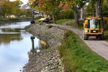 Vinterns renoveringar längs Göta kanal
