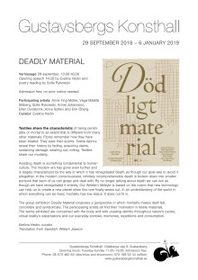 Deadly Material – a textile group exhibition
