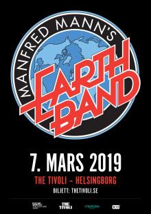 Kulturværftet og The Tivoli, Helsingborg, præsenterer Manfred Mann's Earth Band 7. marts 2019