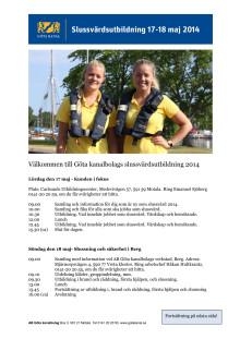 Program slussvärdsutbildning, Motala + Bergs slussar, Östergötland