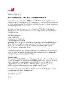 RFSU:s brev till partiledare och elever
