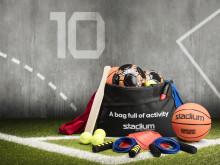 Stadium skänker 3400 aktivitetsväskor till förmån för barns hälsa och välbefinnande