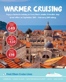 Fred. Olsen Cruise Lines launches 'Warmer Cruising' brochure of great-value winter 2013/14 cruises
