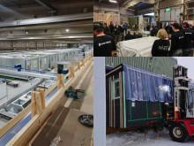 Den första bostadsmodulen har lämnat Isolamins fabrik