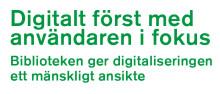 """Pressinbjudan: Erik Fichtelius presenterar förslaget """"Digitalt först med användaren i fokus""""på Bok & Biblioteksmässan torsdag kl 10.30"""