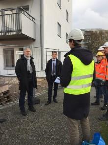 Bostadsminister Peter Eriksson besökte Malmö centralfängelse och nybyggnation av Kombohus