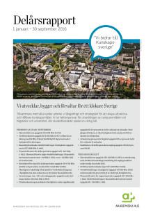 Delårsrapport 1 januari - 30 september 2016