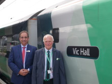 Train honour for Watford Junction legend Vic Hall