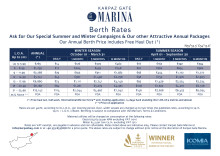 Karpaz Gate Marina Berthing and Services Price List 2017/18