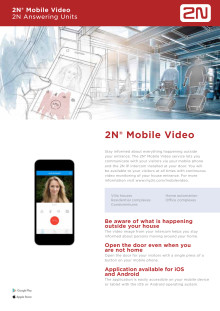 Porttelefoner från Gate Security - 2N Mobile Video