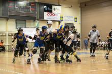 Dubbelvinst för Stockholm Roller Derby