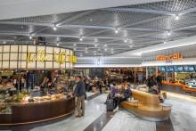 Skyltar blir smycken på Stockholms Centralstations nya matgalleria