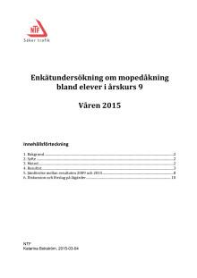 Enkätundersökning om mopedåkning i åk. 9