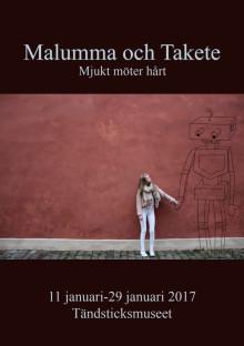 Vernissagekort Malumma & Takete, Mjukt möter Hårt