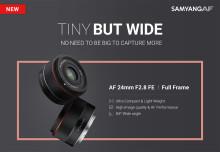Liten og lett vidvinkel for Sony FE