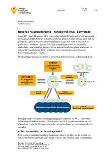 Nationell nivåstrukturering – förslag om koncentration av tolv åtgärder i cancervården, 2016-01-11