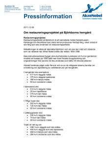 Om restaureringsprojektet på Björkborns herrgård