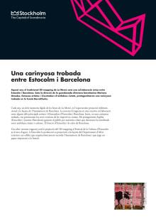 La Mercè: Una carinyosa trobadaentre Estocolm i Barcelona