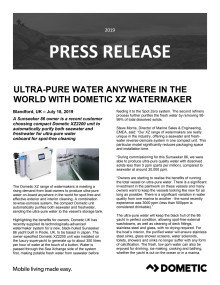 Ultra-Pure Water Anywhere in the World with Dometic XZ Watermaker