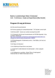 Programmet för landshövdingens besök