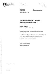 Tertialrapport Tertial 2 2015 SBN