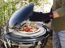 Sprø pizzabunn med grill