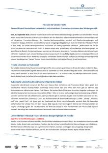 Pernod Ricard Deutschland unterstützt mit attraktiven Promotion-Aktionen das Wintergeschäft
