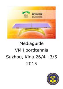Mediaguide VM i Suzhou, Kina