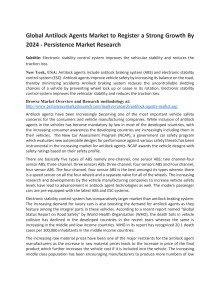 Global Antilock Agents Market to Register a Strong Growth By 2024 - Persistence Market Research