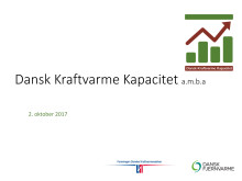 Dansk Kraftvarmekapacitet - præsentation