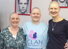 Moray Council staff show solidarity with charity head shave