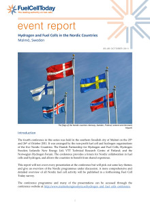 Hydrogen and Fuel Cells in the Nordic Countries i Malmö