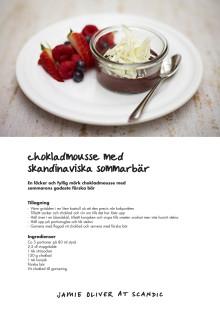 Jamie Oliver - sommarmeny, Chokladdessert med lokala sommarbär