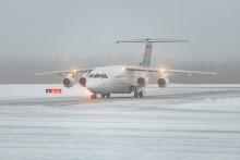 På söndag går första skidflyget till nya flygplatsen mellan Sälen och Trysil från Växjö