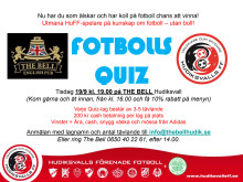 FotbollsQuiz på The Bell 19 sep 2017 kl. 19.00