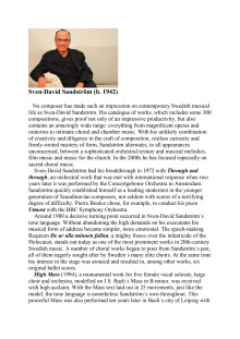 Sven-David Sandström – Biography in English