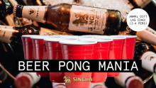 Beer Pong Mania x Tap Room