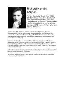 Richard Hamrin, baryton / Baritone