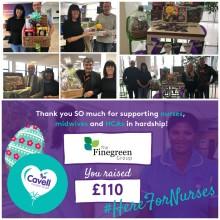 Finegreen Easter Raffle raises £110 for Cavell Nurses' Trust!