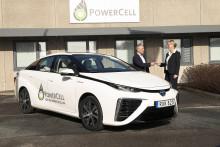 Göteborgs första Toyota Mirai bränslecellsbil till PowerCell
