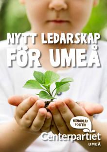 Valmanifest Centerpartiet Umeå 2018