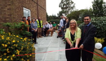 Mitie and Orbit South open brand new patio garden for residents at Sherwood House