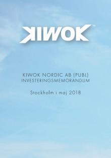 Kiwok investeringsmemorandum 2018