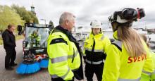 Svevia testade eldriven sopmaskin i Stockholm