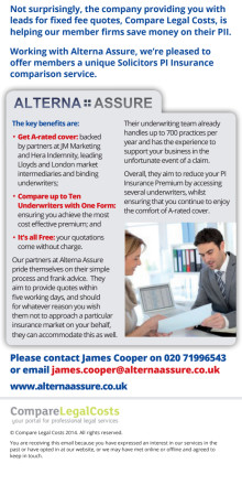Solicitors: compare PII fees through this free service.