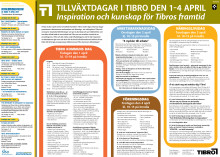 Program - tillväxtdagar i Tibro 1-4 april