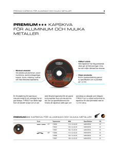 Produktinfo TYROLIT PREMIUM kapskiva ALU 1,2mm